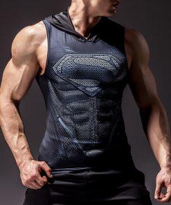 New Fashion Compression Sleeveless Shirts Tank Top Men Fitness Shirt Mens Singlet Bodybuilding Workout Gym Vest Fitness Men 1