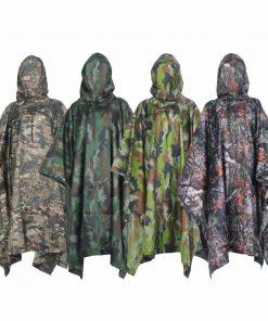 VILEAD Polyester Impermeable Outdoor Raincoat Waterproof Women Men Rain Coat Poncho Cloak Durable Fishing Camping Tour Rain Gear 2