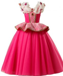 Girls Dresses Sleeping Beauty Cosplay Princess Dress For Girls Kids Halloween Birthday Party Tutu Dress for Christmas 2