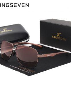 KINGSEVEN 2019 Brand Men Aluminum Sunglasses HD Polarized UV400 Mirror Male Sun Glasses Women For Men Oculos de sol 2