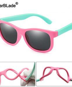 WBL Kids Polarized Sunglasses TR90 Boys Girls Children Sun Glasses Silicone Safety Baby Glasses UV400 Eyewear Oculos With Case 2