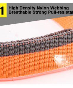Truelove Dog Collar Nylon for Small medium and Big Dogs Neck Belt Training Walking Light Breathable Running Orange Black TLC5171 2