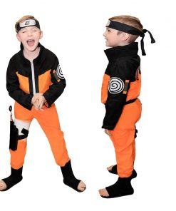 2020 Calssic Anime Cosplay Naruto children Cosplay Costumes juvenile Uzumaki Naruto kids  Free Shipping 1
