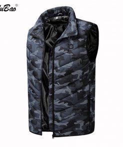 BOLUBAO Fashion Brand Men Heating Vest Coats Winter New Men Casual Cotton Vest Jacket Tops Smart USB Charging Vest Coat Male 2