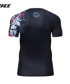2018 Newest Compression Shirt Fitness 3D Prints Short Sleeves T Shirt Men Bodybuilding Skin Tight Crossfit Workout O-Neck Top 2