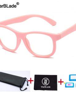 WBL Children Anti Blue Light Glasses Kids Optical Frame Eyeglasses Boys Girls Computer Clear Blocking Reflective Glasses UV400 1