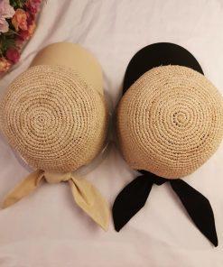 2019 New Women Baseball Caps Handmade Knitting Crochet Peaked Cap Female Equestrian Hat Summer Sun Hat Adjustable Breathable 2