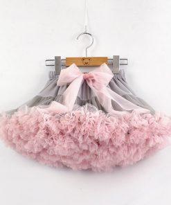 Baby Girls Tutu Skirt Fluffy Children Ballet Kids Pettiskirt Baby Girl Skirts Big Bow Tulle Party Dance Skirts for Girls Cheap 2