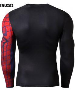 Male t-shirt 3D Printed Compression Shirt Quick-Dry T-Shirt Rash Guard Tops Fitness Running Shirt Men Gym Sport Tight 2