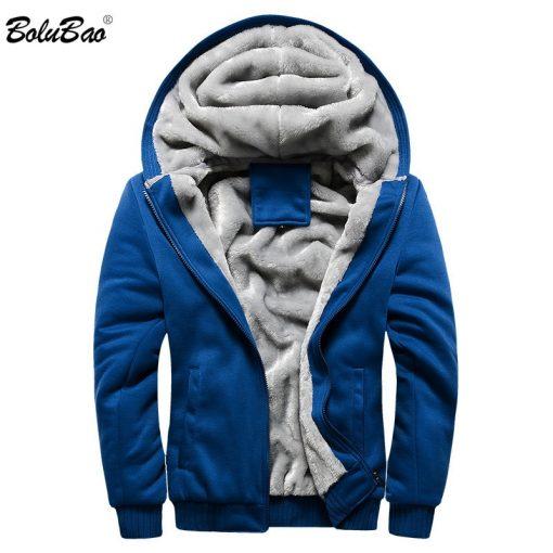BOLUBAO Fashion Brand Men's Jackets Autumn Winter New Men Plus velvet Thickening Jacket Male Casual Hooded Jacket Coats 1