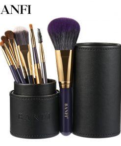 7PCs/set Makeup Brushes Set Professional Beauty Make-Up Brush Natural Hair Foundation Powder Blushes Eyeshadow Concealer Lip Eye 1