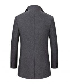 BOLUBAO Wool Blend Coat Men Quality Brand Men's Casual Wild Wool Overcoat Male Trend Solid Color Wool Coat (Send Scarf) 2