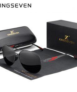 KINGSEVEN 2019 Brand Design Men's Sunglasses Polarized Aluminum Pilot Glasses For Women Fashion Style UV400 Gafas De Sol 1