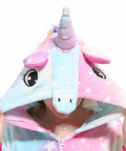 Kigurumi Unicorn Pajama Adult Animal Panda Onesie Boys Girls Women Men  Couple Winter Pajama Suit Sleepwear Flannel Pijama 3