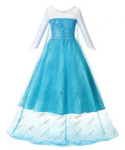 Anna Elsa 2 Girls Princess Dress Kids Clothes Girls Children Clothes Halloween Christmas Cosplay Holiday Party Dress Vestidos 2