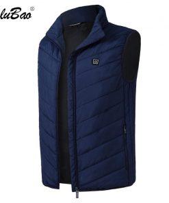 BOLUBAO Fashion Brand Men Heating Vest Coats Winter New Men Casual Cotton Vest Jacket Tops Smart USB Charging Vest Coat Male 1