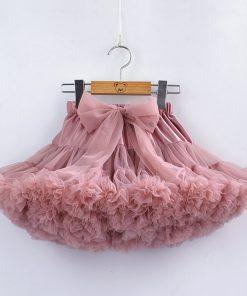 Baby Girls Tutu Skirt Fluffy Children Ballet Kids Pettiskirt Baby Girl Skirts Big Bow Tulle Party Dance Skirts for Girls Cheap 1