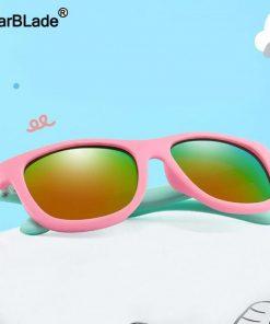 WarBlade 2020 Kids Sunglasses Children Polarized Sun Glasses Boys Girls Silicone Safety Glasses Baby Infant Shades Eyewear UV400 2
