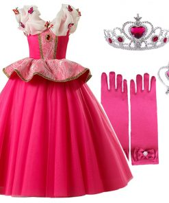 Girls Dresses Sleeping Beauty Cosplay Princess Dress For Girls Kids Halloween Birthday Party Tutu Dress for Christmas 1